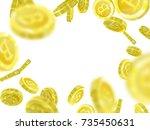 bitcoin vector illustration of... | Shutterstock .eps vector #735450631