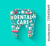 dental banner background... | Shutterstock .eps vector #735450649
