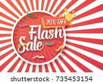 illustration of flash sale... | Shutterstock . vector #735453154