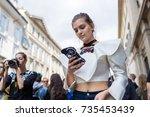 milan  italy   september 23 ... | Shutterstock . vector #735453439