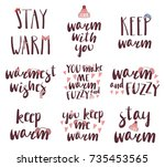set of different quotes ... | Shutterstock .eps vector #735453565