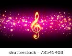 abstract music background with... | Shutterstock . vector #73545403