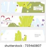 hand drawn creative universal... | Shutterstock .eps vector #735460807