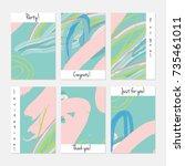 hand drawn creative universal... | Shutterstock .eps vector #735461011