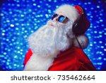 Dj Santa Claus In Sunglasses...