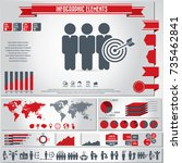 human resources icon set and... | Shutterstock .eps vector #735462841