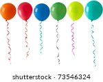Coloured Party Balloons And...
