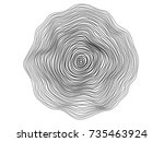 abstract circle lines flowing... | Shutterstock .eps vector #735463924