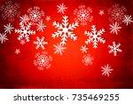 deep red christmas background...   Shutterstock . vector #735469255