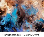 abstract hand made acrylic... | Shutterstock . vector #735470995