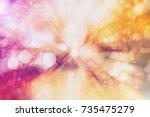 white soft violet lights... | Shutterstock . vector #735475279