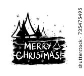 merry christmas template for... | Shutterstock .eps vector #735475495