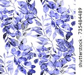 watercolor seamless pattern... | Shutterstock . vector #735484489