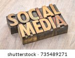 social media banner   word... | Shutterstock . vector #735489271