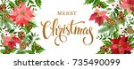 christmas design composition of ... | Shutterstock .eps vector #735490099