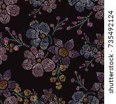 elegant seamless pattern with...   Shutterstock .eps vector #735492124