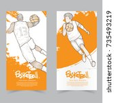 sport banner set. hand drawn...   Shutterstock .eps vector #735493219