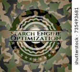 search engine optimization on... | Shutterstock .eps vector #735493681