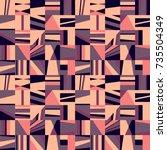 seamless abstract vector...   Shutterstock .eps vector #735504349