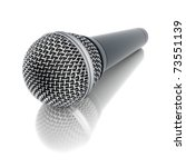 3d microphone on mirror floor | Shutterstock . vector #73551139