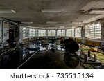 a view of a flooded and... | Shutterstock . vector #735515134