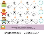 activity page for children.... | Shutterstock .eps vector #735518614