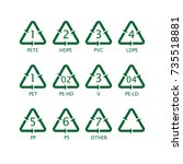 marks on the plastic packaging.   Shutterstock .eps vector #735518881