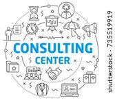 consulting center linear...   Shutterstock .eps vector #735519919