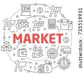 market linear illustration...