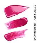 pink makeup smears of lip gloss ...   Shutterstock . vector #735520117