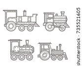 steam locomotive icons  vector
