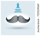 prostate cancer awareness design | Shutterstock .eps vector #735529069