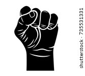 male fist vector illustration.... | Shutterstock .eps vector #735531331