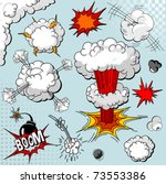 comic book explosion elements... | Shutterstock .eps vector #73553386