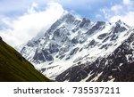 close up of swargarohini peak... | Shutterstock . vector #735537211