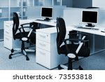 computers on the desks in a...   Shutterstock . vector #73553818