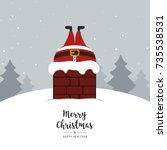 Santa Stuck In Chimney Winter...