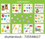 counting educational children...   Shutterstock .eps vector #735548617