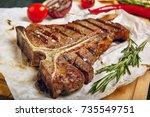 Gourmet grill restaurant steak...