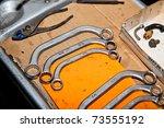 Box wrench tools - stock photo