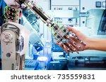 artificial intelligence... | Shutterstock . vector #735559831