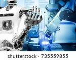 artificial intelligence on... | Shutterstock . vector #735559855