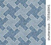 abstract mottled houndstooth...   Shutterstock .eps vector #735560041