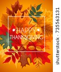 abstract  illustration autumn... | Shutterstock . vector #735563131
