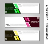 vector abstract design banner... | Shutterstock .eps vector #735565075
