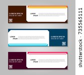 vector abstract design banner... | Shutterstock .eps vector #735565111