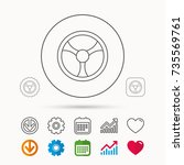 steering wheel icon. car drive...   Shutterstock .eps vector #735569761