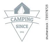 camping logo. vintage... | Shutterstock .eps vector #735578725