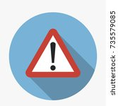 attention sign triangular icon... | Shutterstock .eps vector #735579085