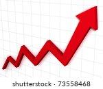 arrow graph   Shutterstock . vector #73558468